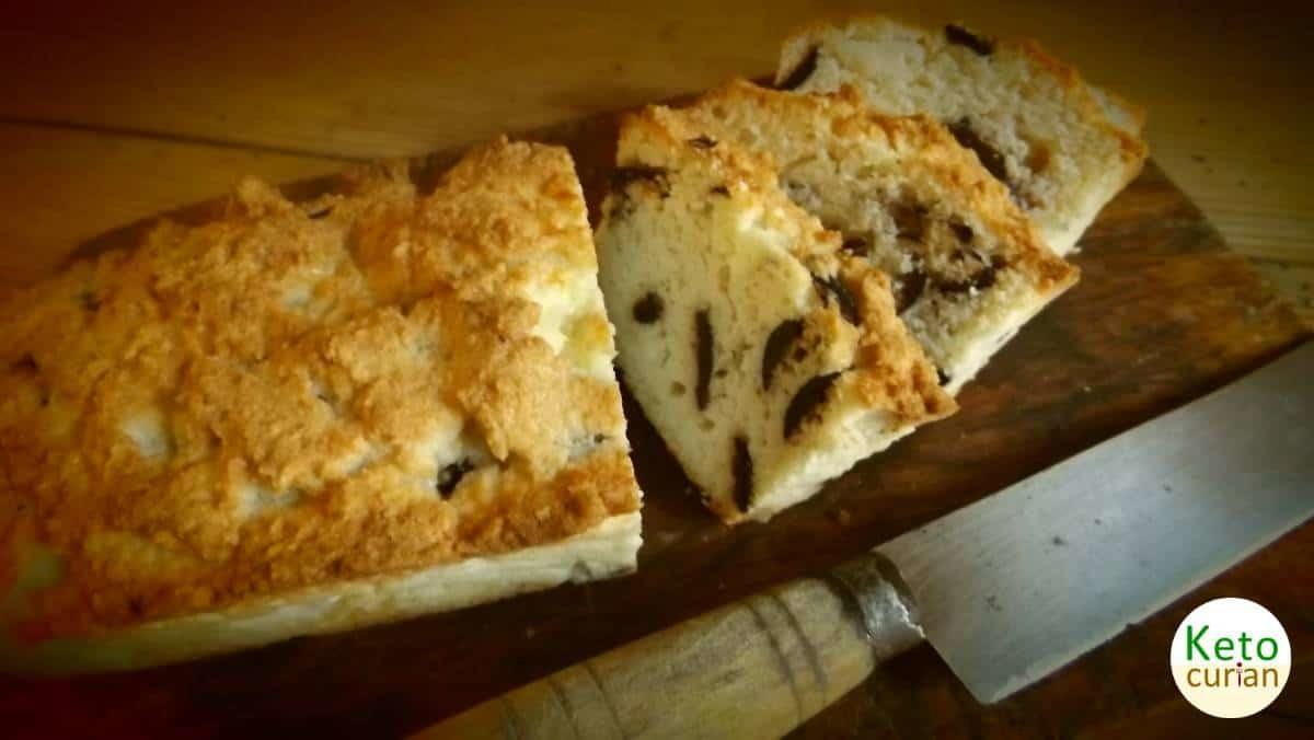 Receta de cocina cetogénica para Pastel de Queso Feta y Aceitunas