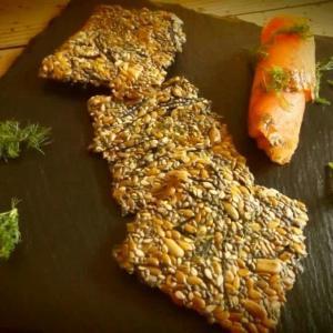 Receta de comida cetogénica para Galletas Crujientes de Semillas y Algas Hiziki
