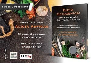 Invitación para la firma del libro sobre la dieta cetogénica en la Feria del Libro de Madrid 2019.