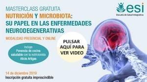 Enlace video masterclass nutrición y microbiota